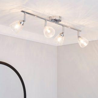 An Image of Balston 4 Light Glass Spotlight Bar Clear