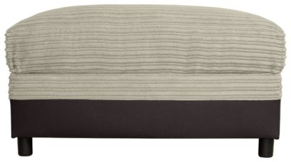 An Image of Argos Home Harry Large Fabric Storage Footstool - Natural