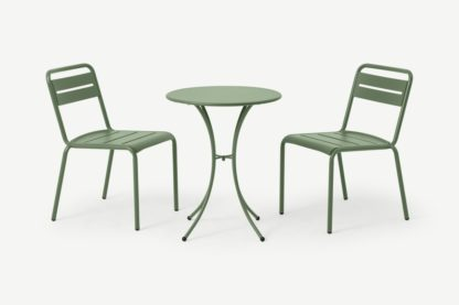 An Image of Emu 2 Seat Bistro Set, Green Powder-Coated Steel