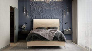 An Image of MiBed Seattle Velvet Superking Bed Frame - Cream