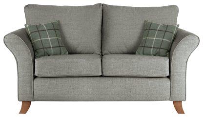 An Image of Argos Home Kayla 2 Seater Fabric Sofa - Light Grey