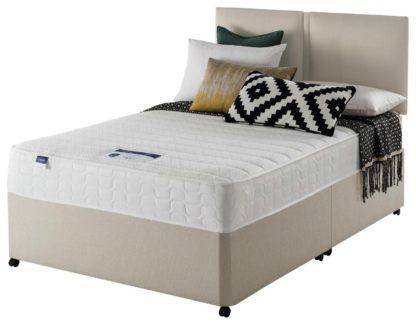 An Image of Silentnight Hatfield Memory Foam Small Double Divan Bed-Sand