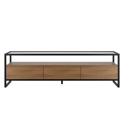 An Image of Dillon Oak Extra Wide TV Stand Wood (Brown)
