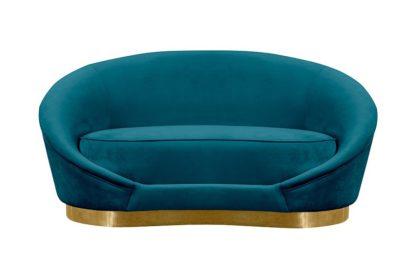 An Image of Selini Two Seat Sofa - Peacock