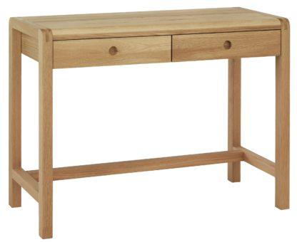 An Image of Habitat Radius Dressing Table - Oak