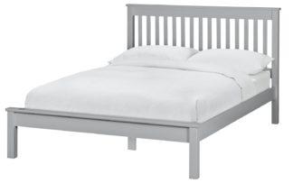 An Image of Habitat Aspley Small Double Bed Frame - Grey