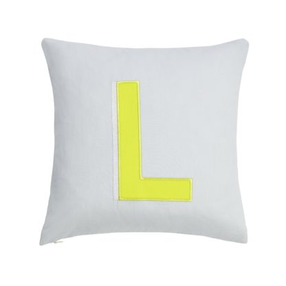 An Image of Argos Home Letter L Cushion