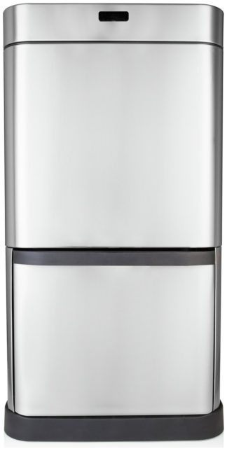 An Image of Tower 70 Litre Recycling Sensor Bin - Stainless Steel