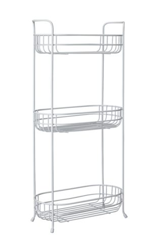 An Image of Argos Home 3 Tier Oval Freestanding Unit - White