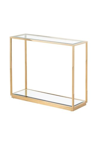An Image of Rippon Brass Rectangular Console Table
