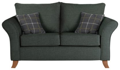 An Image of Argos Home Kayla 2 Seater Fabric Sofa - Charcoal