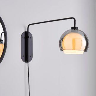 An Image of Elements Ramona Swing Arm Wall Light Black