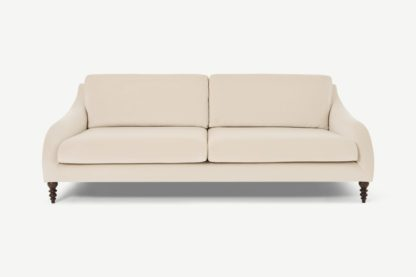 An Image of Andrin 3 Seater Sofa, Natural Eco Velvet