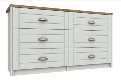 An Image of Kielder 3 + 3 Drawer Chest - White