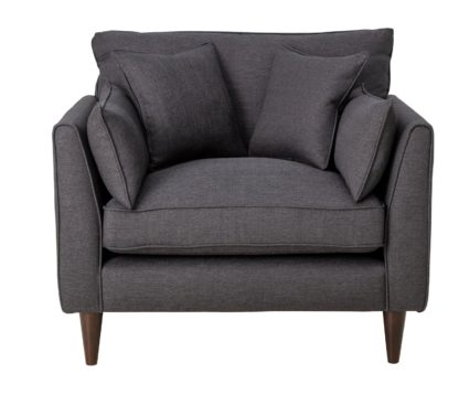An Image of Habitat Hector Linen Effect Cuddle Chair - Charcoal