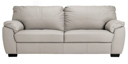 An Image of Argos Home Milano 4 Seater Leather Sofa - Chocolate