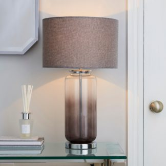 An Image of Large Ombre Glass Table Lamp Charcoal