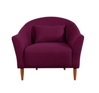 An Image of Habitat Lipps Velvet Armchair - Cranberry