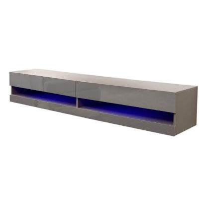 An Image of Galicia 180cm LED Wide Wall TV Unit Black