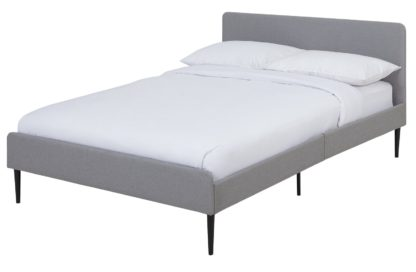 An Image of Habitat Kristopher Double Bed Frame - Grey