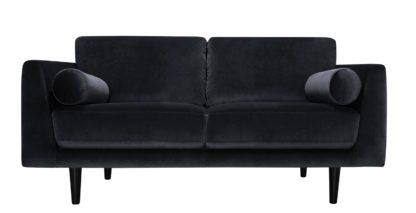 An Image of Habitat Jackson 3 Seater Velvet Sofa - Burgundy