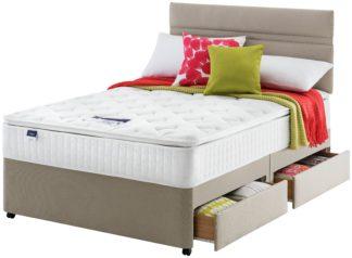 An Image of Silentnight Stanfield Pillowtop 4 Drawer Divan - Kingsize