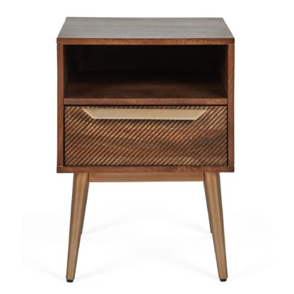 An Image of Anya Bedside Table Brown