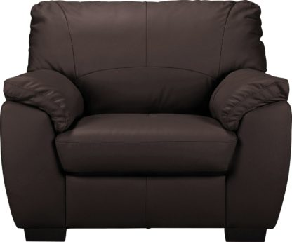 An Image of Argos Home Milano Leather Armchair - Chocolate