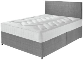 An Image of Argos Home Elmdon Kingsize Deep Ortho Divan Bed - Grey
