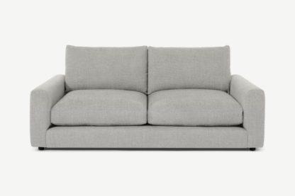 An Image of Arni 3 Seater Sofa, Grey Textured Weave