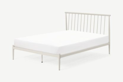 An Image of Penn Super King Size Metal bed, Warm Ecru