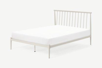 An Image of Penn Double Metal Bed, Warm Ecru