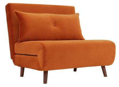 An Image of Habitat Roma Fabric Chairbed - Orange