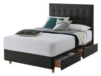 An Image of Silentnight Alaro 4 Drawer Kingsize Divan Bed - Ebony