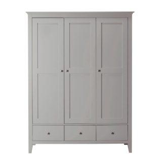 An Image of Lynton Grey Triple Wardrobe Grey