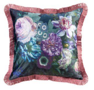 An Image of Argos Home Dutch Glam Fringed Cushion