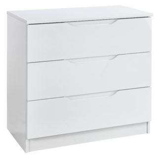 An Image of Legato 3 Drawer Chest - White Gloss