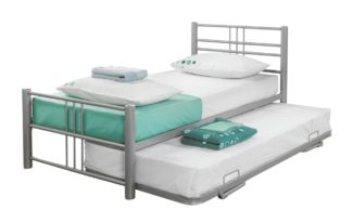 An Image of Argos Home Atlas Guest Bed - Silver