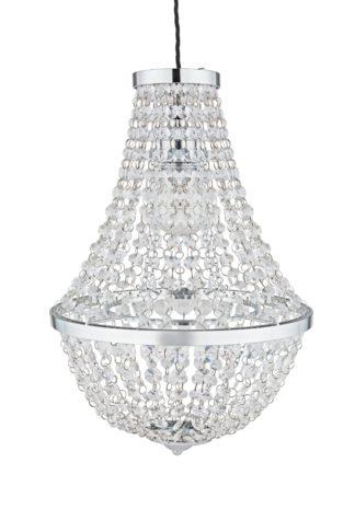 An Image of Argos Home Empire Chandelier Light - Chrome