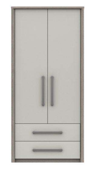 An Image of Grasmere 2 Door 2 Drawer Wardrobe - White