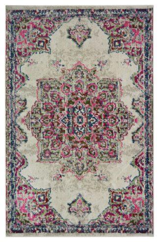 An Image of Homemaker Villa Medallion Rug - 80x150cm - Pink
