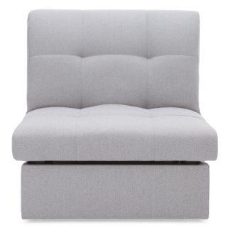 An Image of Grey Rowan Single Sofa Bed Grey