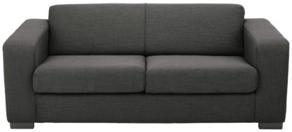 An Image of Habitat New Ava 2 Seater Fabric Sofa Bed - Charcoal
