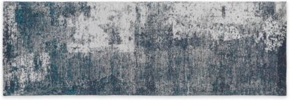 An Image of Genna Jacquard Runner 66 x 200 cm, Blue