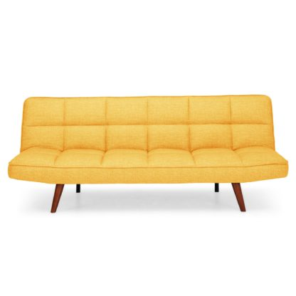 An Image of Xander Colour Pop Clic Clac Sofa Bed - Mustard Yellow