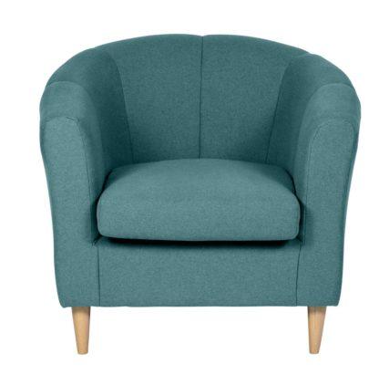 An Image of Habitat Ayres Fabric Tub Chair - Aqua