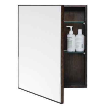 An Image of Wireworks Dark Oak Slimline Cabinet 550