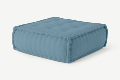 An Image of Sully Floor Cushion, Citadel Blue