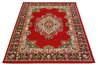 An Image of Maestro Traditional Rug - Red - 200 x 290cm.