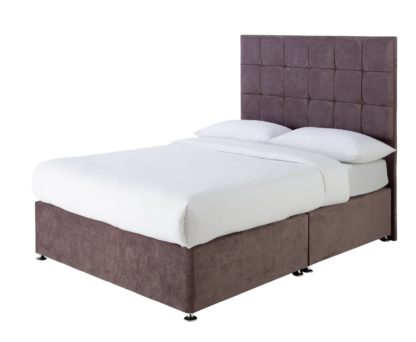 An Image of Forty Winks 1500 Pocket Gel Double Divan - Mauve